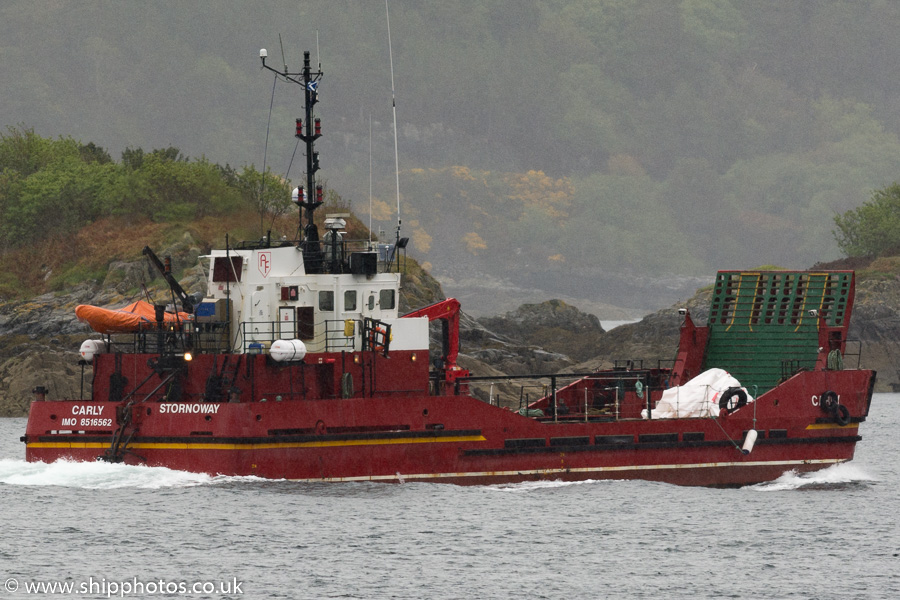 Carly pictured passing Kyle of Lochalsh on 19th May 2016