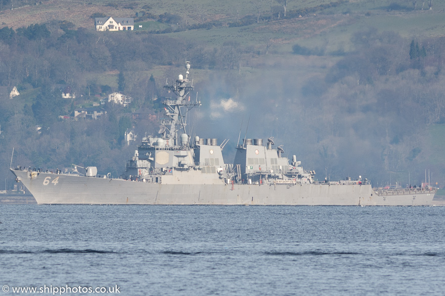 Carney pictured passing Greenock on 26th March 2017