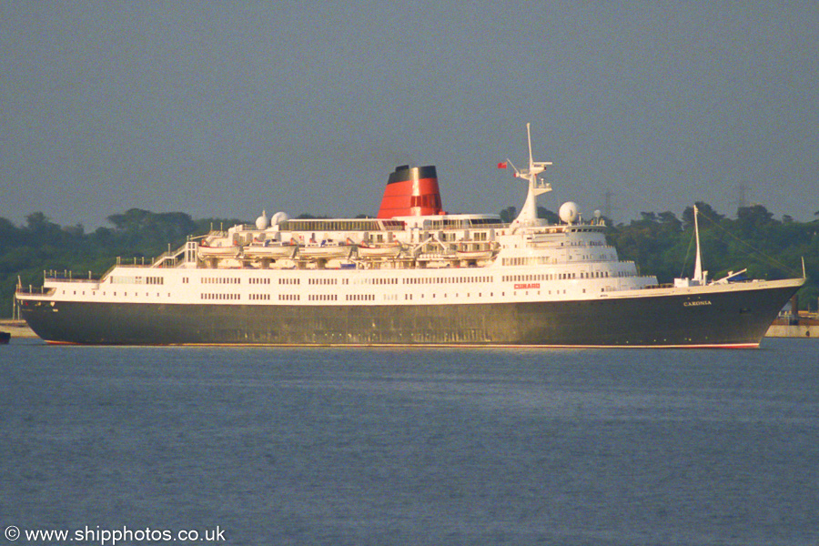 Caronia pictured departing Southampton on 5th July 2003