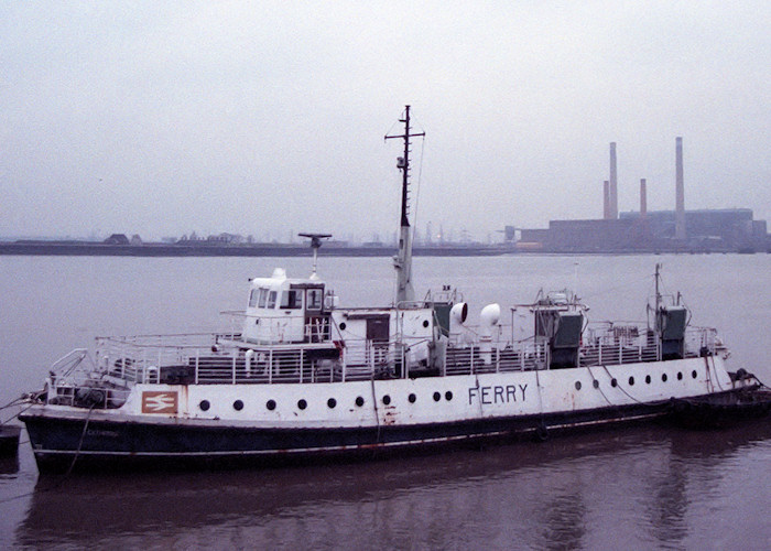 Catherine pictured laid up at Gravesend on 30th December 1988