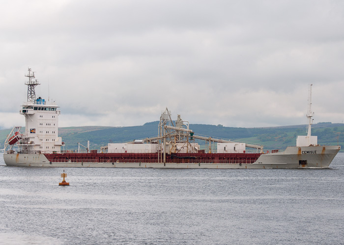 Cemisle pictured passing Greenock on 12th May 2014