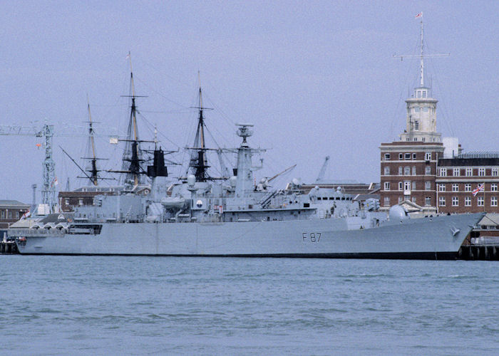 Chatham pictured in Portsmouth Naval Base on 28th April 1995