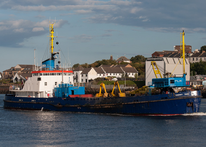 Cherry Sand pictured passing North Shields on 22nd August 2014