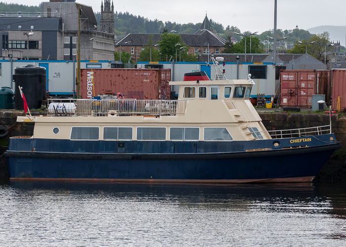 Chieftain pictured in Victoria Harbour, Greenock on 11th May 2014