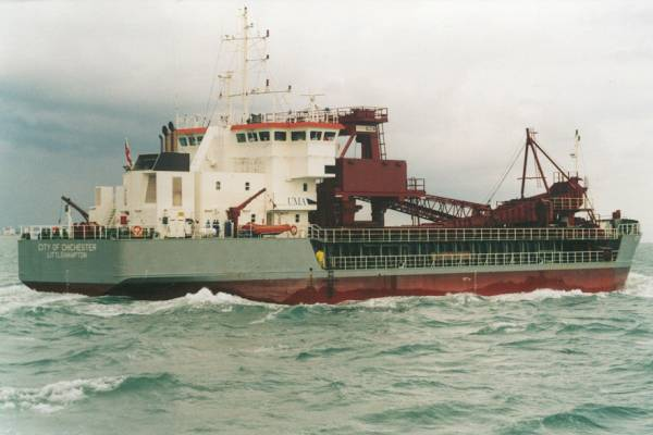 City of Chichester pictured in the Solent on 15th August 1999