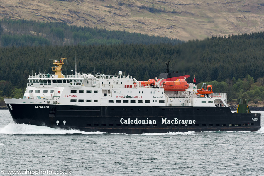 Clansman pictured in the Sound of Mull on 15th May 2016