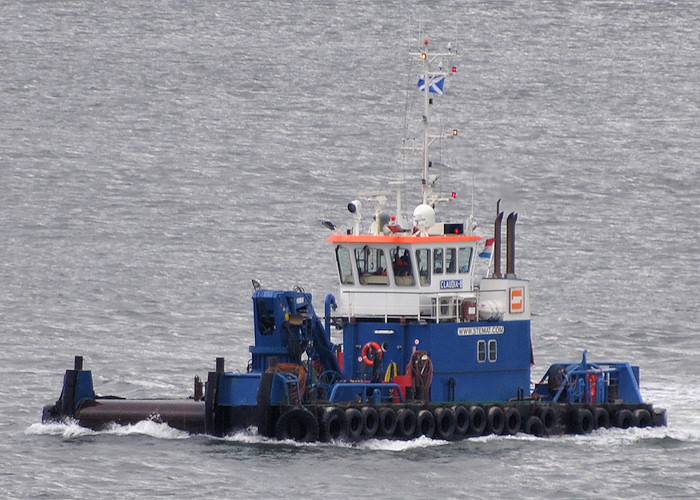 Claudia B pictured on the River Tay on 18th April 2012