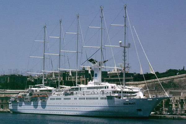 Club Med 2 pictured in Valletta in July 1999