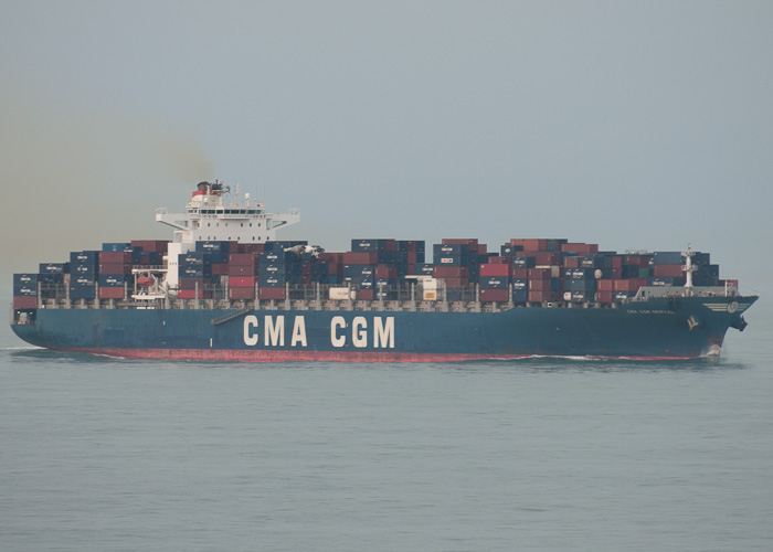 CMA CGM Nerval pictured approaching Zeebrugge on 19th July 2014