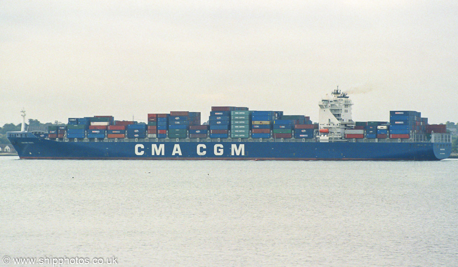CMA CGM Ravel pictured departing Southampton on 27th September 2003