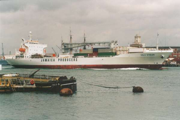 Cold Stream pictured departing Portsmouth on 6th June 2000