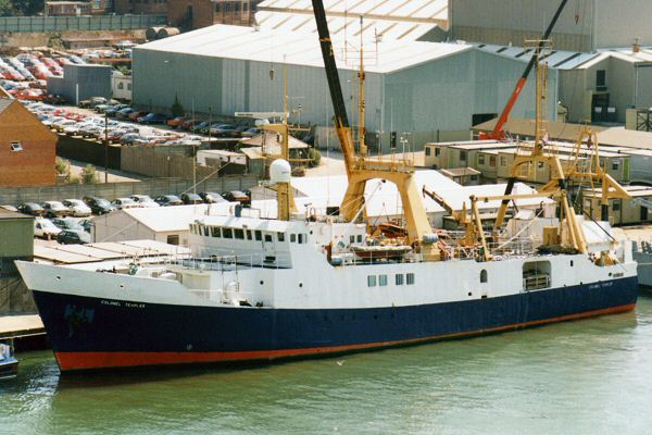 Colonel Templer pictured in Southampton on 10th August 1995