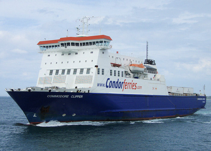 Commodore Clipper pictured entering St. Peter Port on 18th June 2008