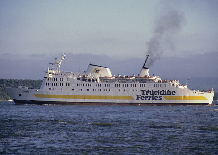 Corbiére pictured departing Poole on 27th July 1991
