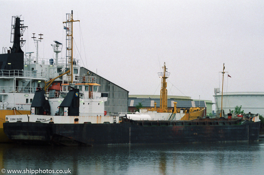 Cork Sand pictured in Salford Docks on 20th May 2000