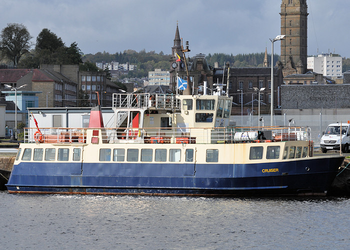 Cruiser pictured in Victoria Harbour, Greenock on 24th September 2011