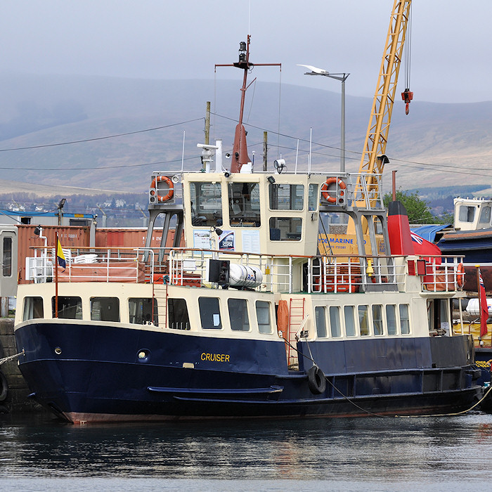 Cruiser pictured in Victoria Harbour, Greenock on 6th April 2012