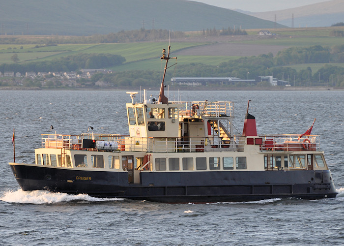 Cruiser pictured passing Greenock on 2nd June 2012
