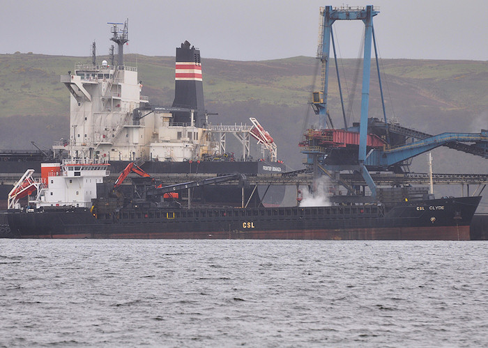 CSL Clyde pictured at Hunterston on 6th April 2012