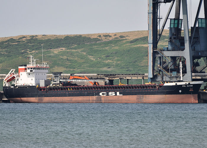 CSL Clyde pictured at Hunterston on 22nd July 2013