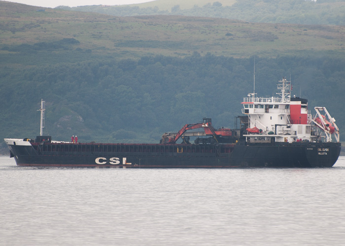 CSL Clyde pictured departing Hunterston on 6th August 2014