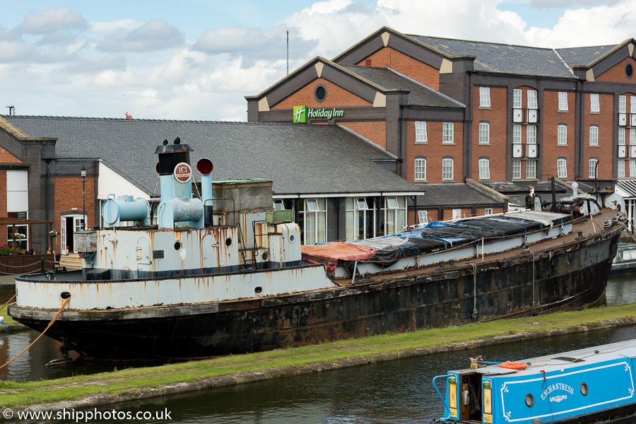 Cuddington pictured at the National Waterways Museum at Ellesmere Port on 29th August 2015