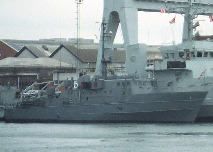 Cygnet pictured in Portsmouth Naval Base on 10th July 1988