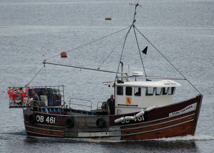 Dawn Treader pictured arriving at Tobermory on 24th April 2011