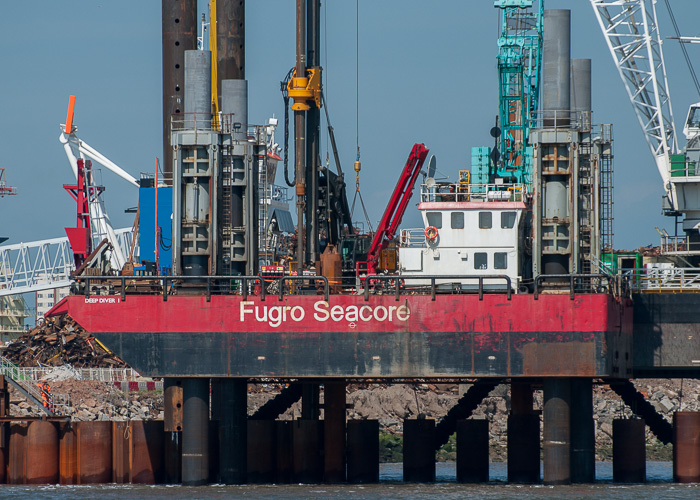 Deep Diver 1 pictured at the Liverpool2 Terminal development, Liverpool on 31st May 2014