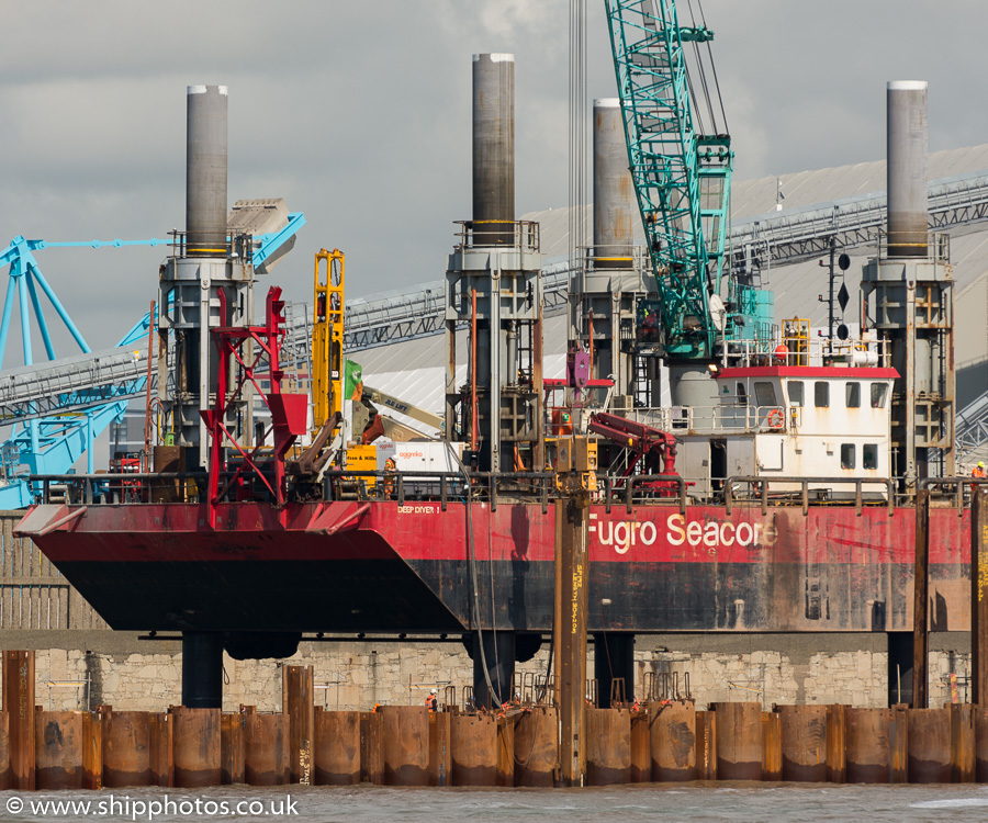 Deep Diver 1 pictured at the Liverpool2 Terminal development, Liverpool on 20th June 2015