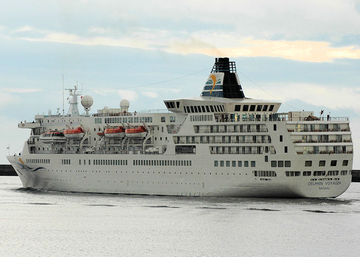 Delphin Voyager pictured departing the River Tyne on 6th August 2010
