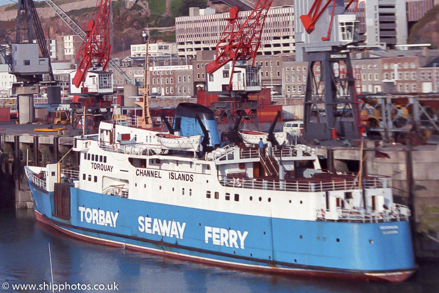 Devonian pictured at St. Helier on 22nd August 1989