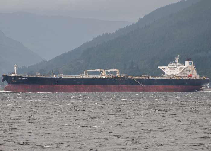 DHT Target pictured departing Finnart on 11th August 2014