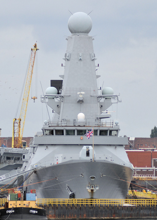 Diamond pictured in dry dock in Portsmouth Naval Base on 6th August 2011