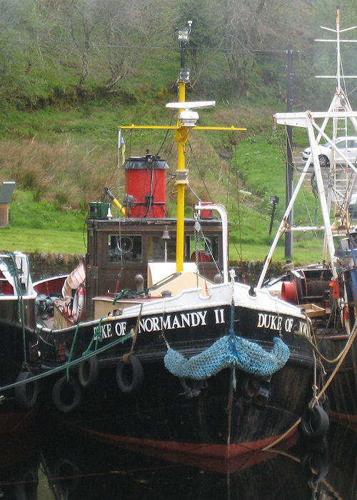 Duke of Normandy II pictured in the canal basin at Crinan on 23rd April 2011