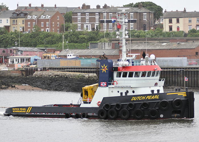 Dutch Pearl pictured arriving at North Shields on 4th June 2011