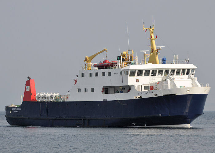 Earl Thorfinn pictured arriving at Kirkwall on 8th May 2013