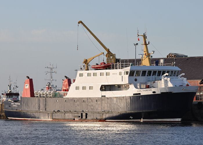 Earl Thorfinn pictured at Kirkwall on 9th May 2013