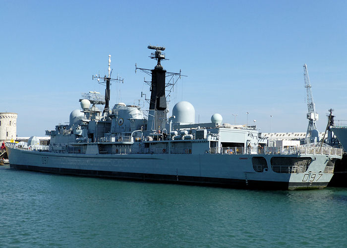Edinburgh pictured in Portsmouth Naval Base on 8th June 2013