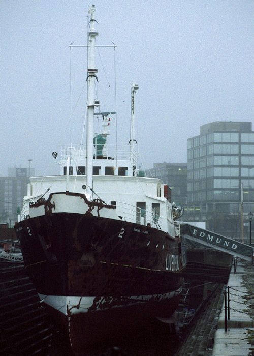 Edmund Gardner pictured in dry dock at Liverpool on 15th November 1996