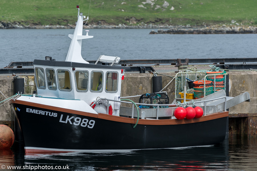 Emeritus pictured at West Burrafirth on 20th May 2015