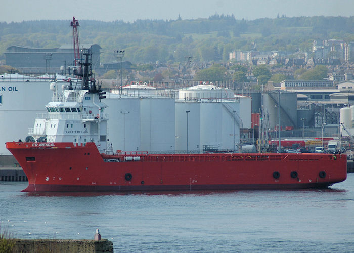 E.R. Arendal pictured at Aberdeen on 29th April 2011