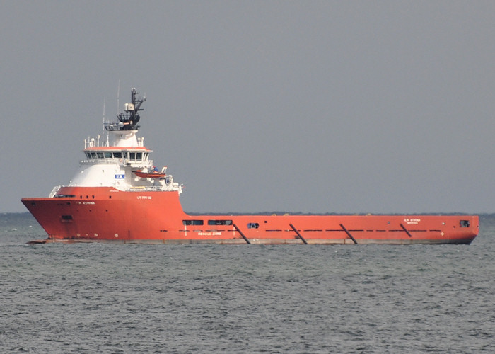 E.R. Athina pictured at anchor off Aberdeen on 15th April 2012