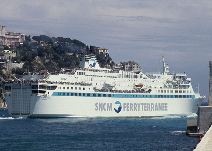 Esterel pictured departing Nice on 3rd July 1990