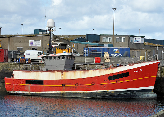 Fairline pictured at Peterhead on 15th April 2012