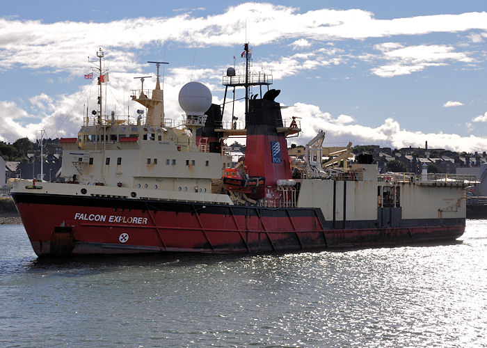 Falcon Explorer pictured departing Aberdeen on 15th September 2013