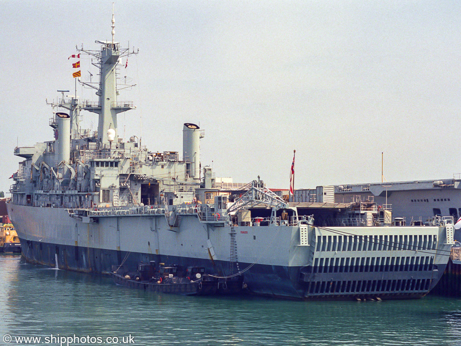 Fearless pictured laid up in Portsmouth Harbour on 3rd July 2005