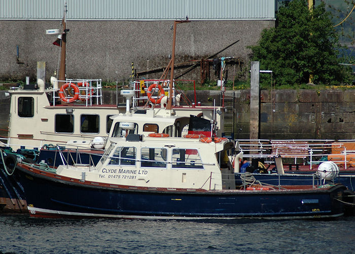 Fencer pictured in Victoria Harbour, at Greenock on 7th May 2010