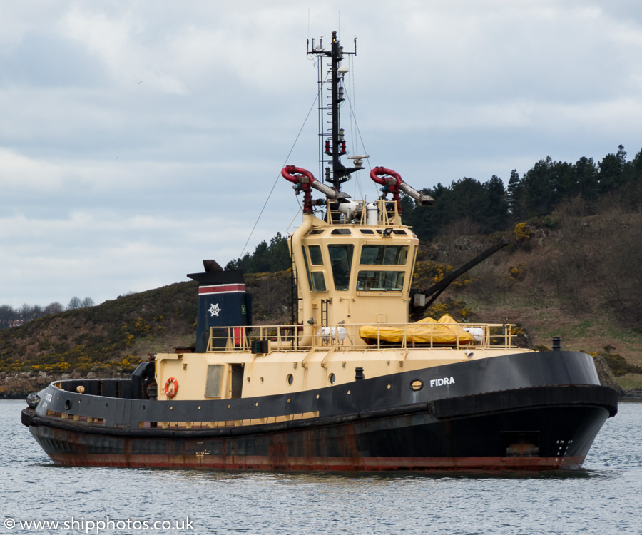 Fidra pictured at Braefoot Bay on 16th April 2016