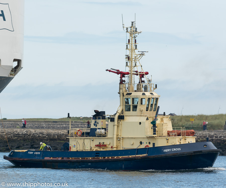 Fiery Cross pictured passing North Shields on 12th July 2019